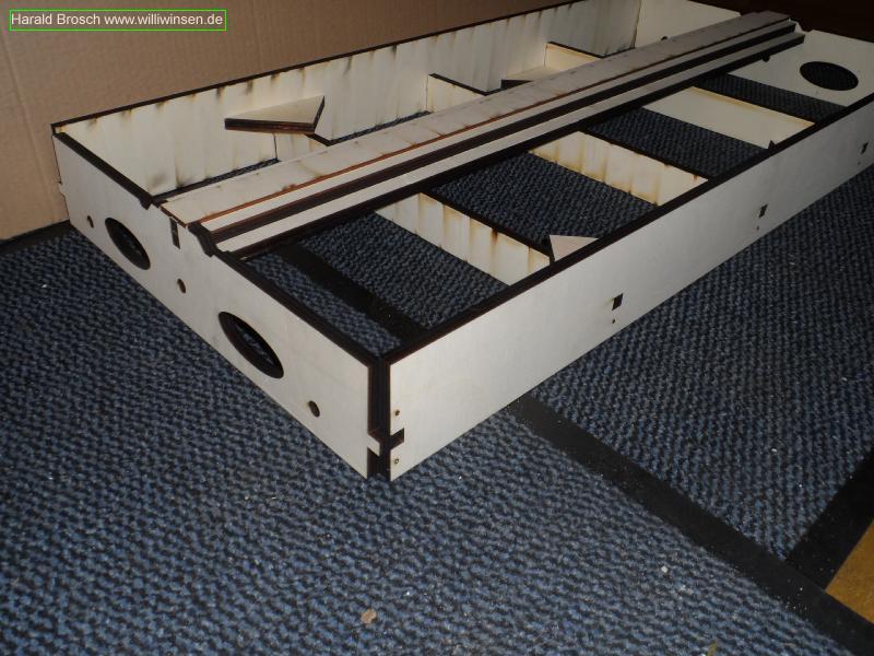 Modulbausatz 500x104x1000mm - FREMO HO flacher Modulkasten - Trassenbrett