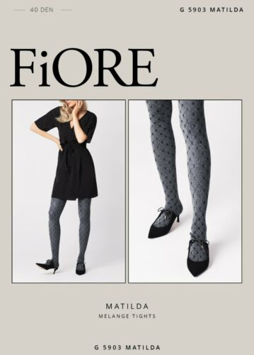 Fiore Tights Matilda 40 Denier Patterned Melange Tights New Collection