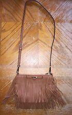 Rebecca Minkoff Finn Fringe Almond Leather Crossbody Bag