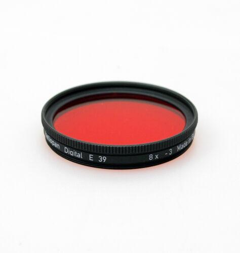 nuevo Stock Heliopan 39mm Rojo 25 Filtro