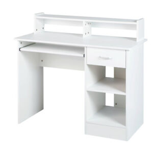 White Computer Desk Small Office Desk Work Table With