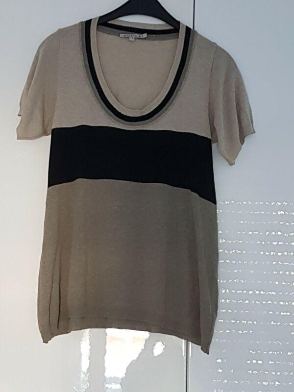 Stylisch Kokai Damen Bluse T-shirt Kurzarm Gr.34 36 Leinen Fein Neu Hochwertig 100% Garantie