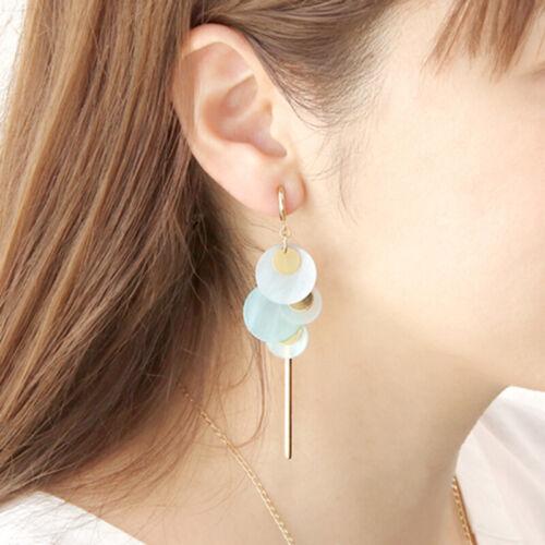 Retractable Stainless Steel Circle Earrings No Need Piercing-with Hanging Loop