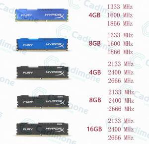 16GB-8GB-4GB-DDR3-DDR4-1333-1600-1866-2133-2400-2666Mhz-RAM-For-HyperX-FURY-Lot