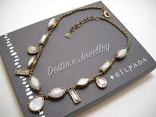 """NEW Designer SILPADA KR """"Crystal Clear"""" Necklace, 18-20"""" (KRN0016) $89MSRP"""