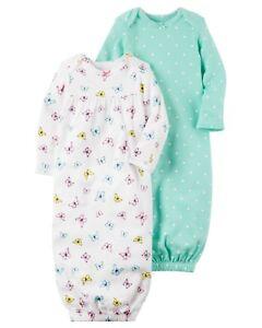 Girls' Clothing (newborn-5t) Nuevo Carter's Pack 2 Dormir Bolsa O Bata 3m Con Etiqueta Mariposa Lunares Niña