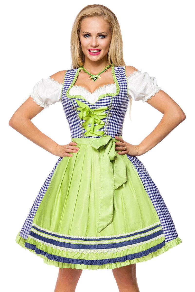ef0bca720b0ec ATX 70037 Damen Kostüm Traditionelles Dirndl Wiesn grün S-3XL Karo ...