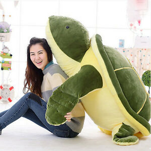 Chic-59-039-039-Giant-Huge-Plush-Tortoise-Turtle-Big-Stuffed-Animal-Soft-Toy-Doll-Gift
