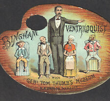 PT Barnum Circus 1870's General Tom Thumb Ventriloquist Magic Act old Trade Card