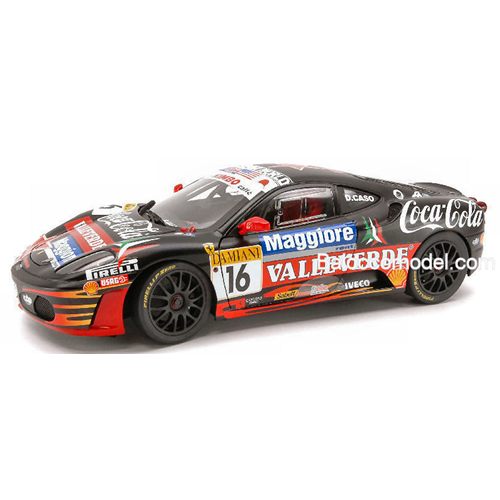 FERRARI F 430 CHALLENGE N.16 VALLELUNGA 2007 D.CASO 1:18 Hot Wheels Die Cast