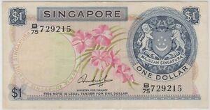 Mazuma *F815 Singapore Orchrid $1 B/75 729215 GVF