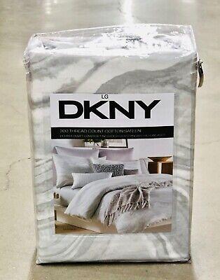 DKNY marbre Parure Housse de Couette-Gris-Double Ensemble 5 pièces