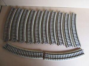 286H-Marklin-5100-Ho-Lot-12-Rails-Courbes-1-87-Voie-M