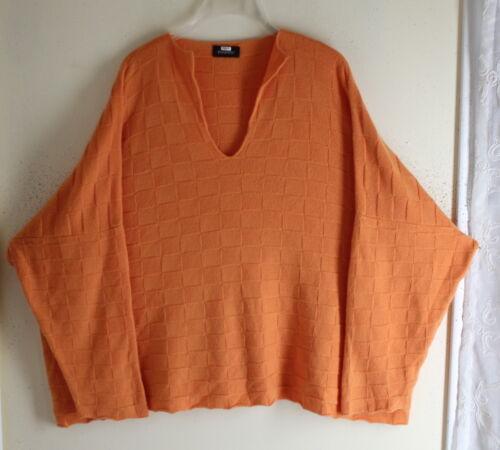 orange Eskandar Pull à 100cachemire tricot Os en molletonné doux carreaux oQCBdrxeW