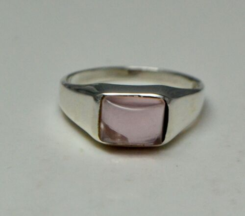 New Fashion  925 Sterling Silver Good Quality Pink Onyx Ring
