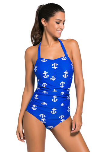 Vintage Inspired 1950s Style Teddy Swimsuit Swimming Pool Summer Cute Beach