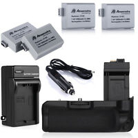 BG-E5 Battery Grip + 4x LP-E5 Batteries + Charger For Canon EOS 450D 500D XSi XS