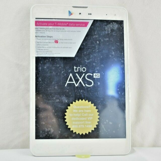 Trio Axs 3g 4g 7 85 Tablet 16gb White 3g Cellular Bt As Pictured Working For Sale Online Ebay
