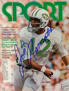 Image is loading Joe-Namath-NY-Jets-SIGNED-Sport-Magazine-COA fd1a36ee3
