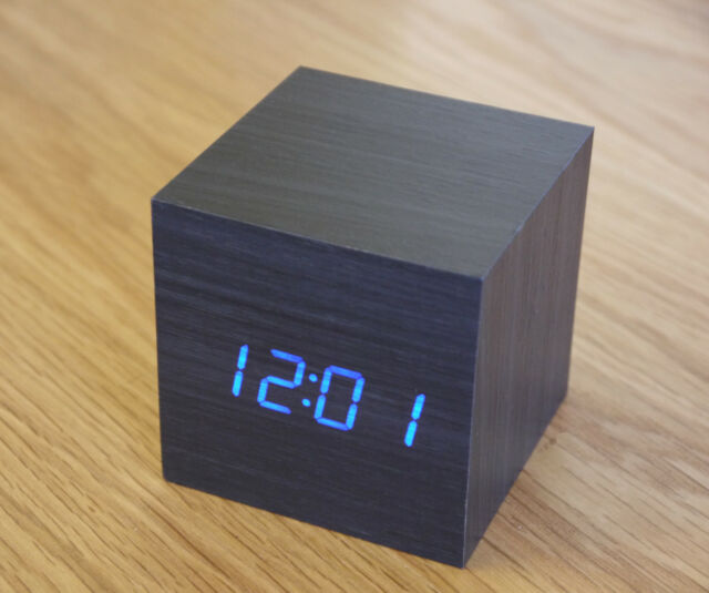 Wooden Fancy LED Clock /Alarm/ Digital Thermometer for Home & Office  Wood Décor
