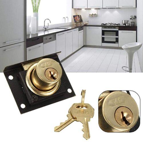 Practical Copper Core Lock Key Desk Drawer Cabinet Door Lock Hardware Tool LD