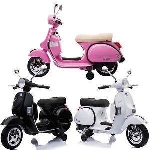 Image Is Loading Licensed Vespa Px150 12v Ride On Children S
