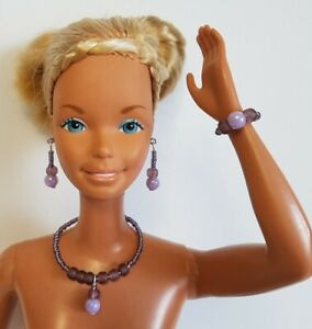 """Orchid DOLL JEWELRY for 18"""" SUPERSIZE BARBIE & similar sized dolls - NO DOLL"""