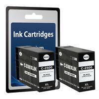 2 Black Ink Cartridges PGI-2500XL for Canon MAXIFY IB4050 MB5050 MB5350