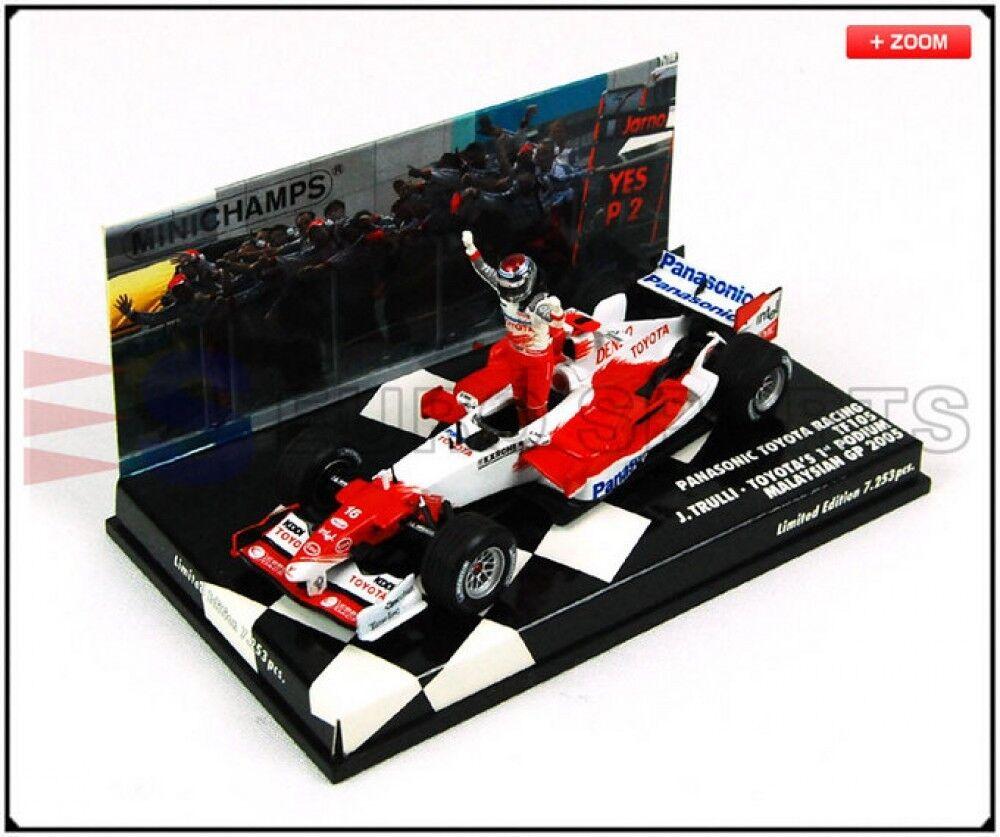 Nouveau PMA Minichamps 1 43 TF105 TOYOTA RACING Jarno Trulli Malaysian Grand prix 2005 Japon