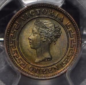 Ceylon-1901-1-4-Cent-PCGS-MS64-BN-incandescent-green-blue-toning-PC0842-combine