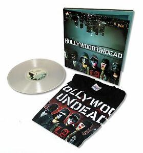 HOLLYWOOD-UNDEAD-SWAN-SONGS-VINYL-RECORD-T-SHIRT-STICKER-GIFT-SET-NEW-OFFICIAL