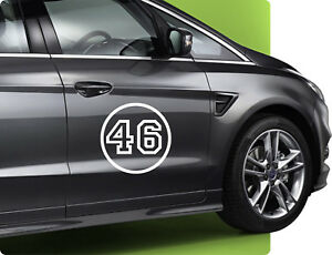 40cm Rennnummer Startnummer Nummer Zahl Rally Autoaufkleber Rallyenummer Nr.16