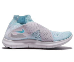 New Nike Womens Free Rn Motion Flyknit 2017 880846-402 Blue gray best-selling model of the brand