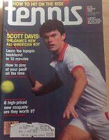 'Tennis' US Tennis Magazine - March 1984 - Scott Davis