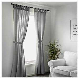 100% Cotton Ikea Curtains Living Room Bedroom Window Sheer ...