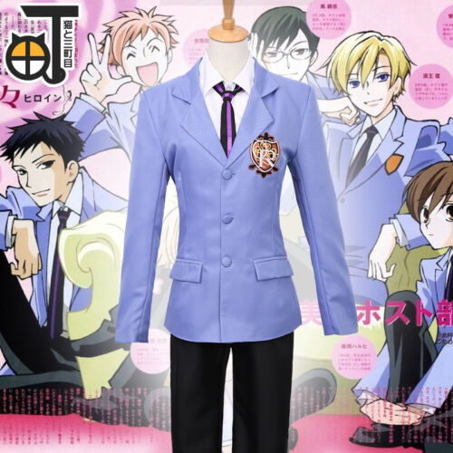 Anime Ouran High School Host Club Veste et Cravate Cosplay Costume