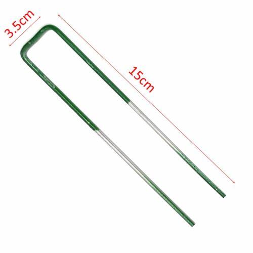 Metal Galvanised Pegs UK Staples Artificial Grass Turf Green U Pins