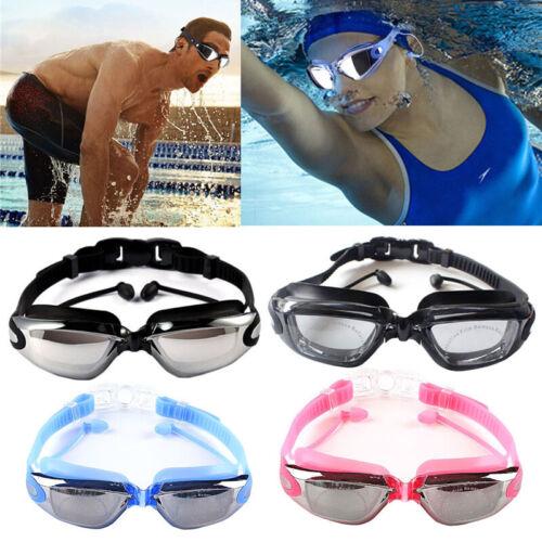 Adults Kids Anti Fog UV Protector Swimming Goggles Pro Swim Glasses with Ear Bud
