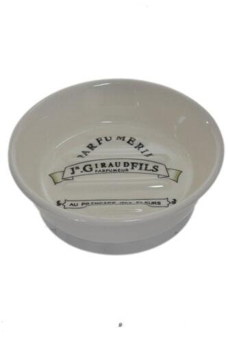 Antique Black /& Cream Ridged Vintage French Paris Parfumerie Round Soap Dish