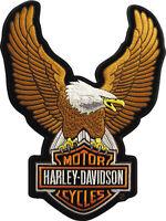 """Harley-Davidson Parche/Emblema """"UPWING EAGLE MARRÓN"""" Patch EMB328394 grande"""