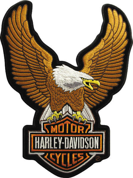 "Harley-Davidson Aufnäher/Emblem ""UPWING EAGLE BROWN"" Patch *EMB328392* klein"