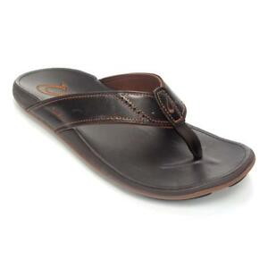 bdab3b0fb1d4 Buy OluKai Mens Nui Sandals 10239 Dark Java dark Java Sz 10 online ...