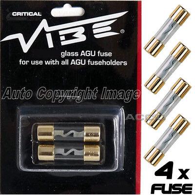 4 X Vibe Audio Agu80 12v 80a Ampere Per Auto Vetro Fusibili Agu Portafusibile Lustro Incantevole