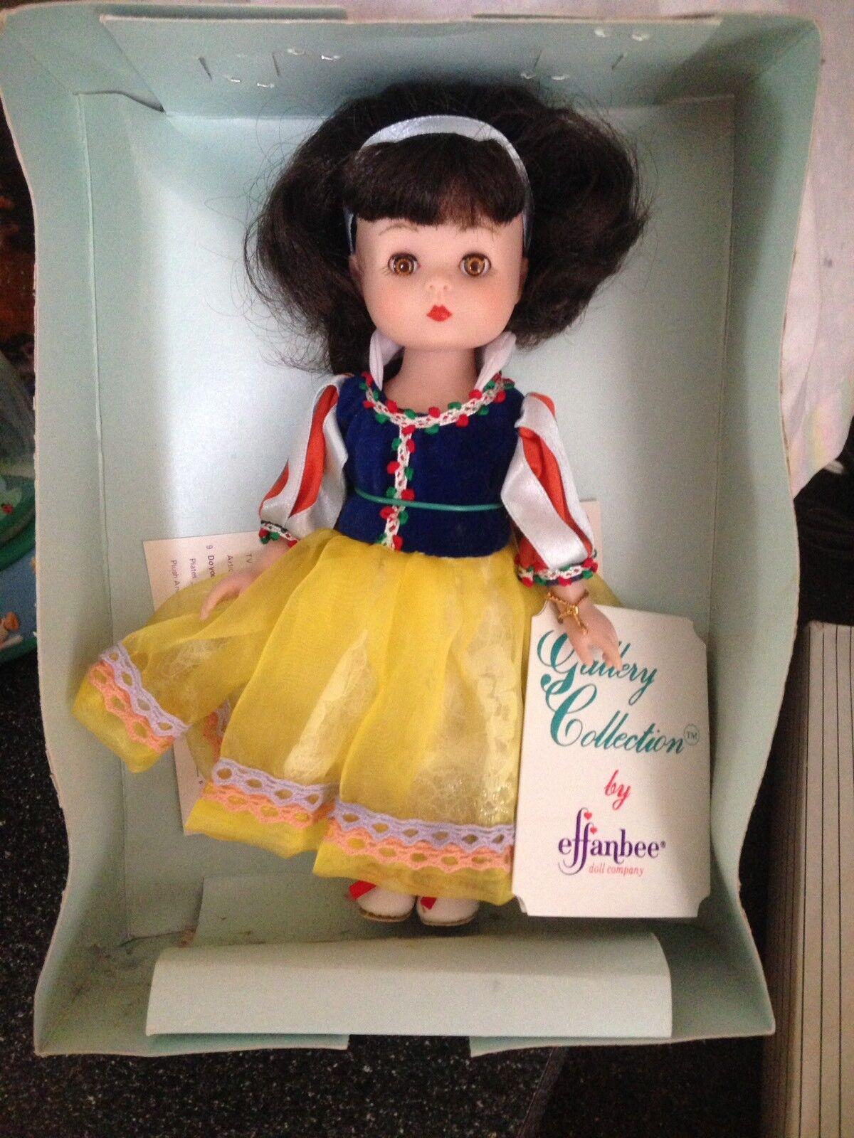 1992 Effanbee Doll Company Historia Libro Serie MV105 retirado Rara Muñeca blancoanieves