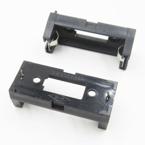 5PCS Soldering Lithium Battery Holder Box Clip Case Cell for CR123A Black
