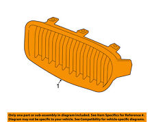 Genuine BMW F32 F33 Radiator Kidney Modern Line Grille Right OEM 51137294820