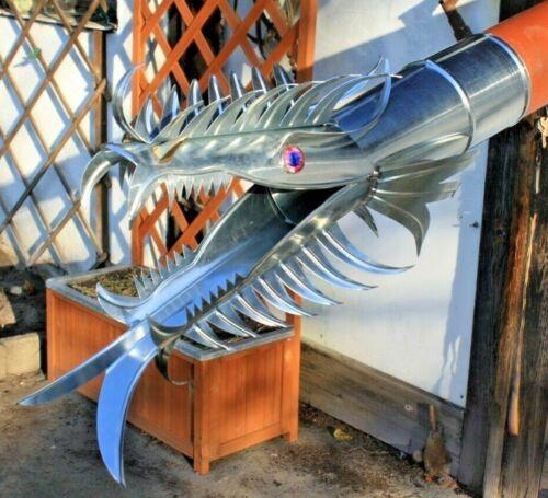 Dragon Drachenkopf Drachen Zink für HT//KG DN 110 Wasserspeier Scarlet