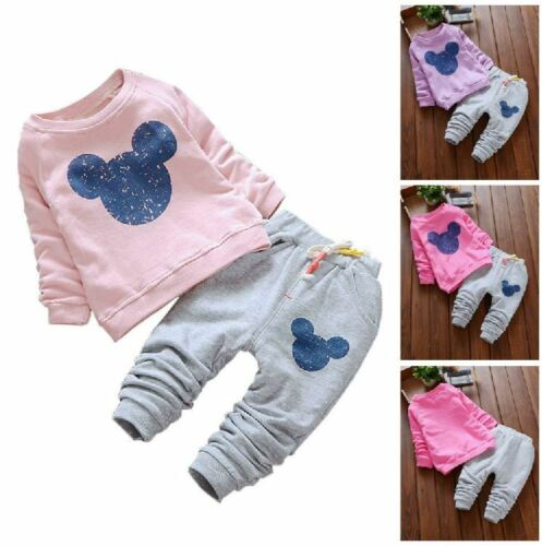New Sweatshirts Trousers Autumn Long Sleeve Baby Girls Outfit Party Kids Clothes