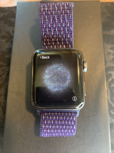 Apple Watch Series 3 LTE Cellular (42mm) Black Aluminum (A1861) Nylon Band: MiNT