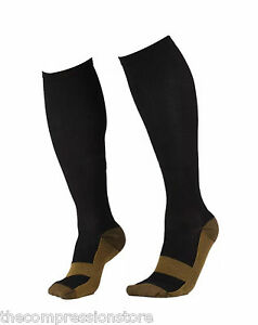 b6e22678fd Image is loading Copper-Compression-Socks-Knee-High-Mens-and-Womens-